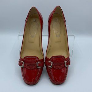 Tod's Red Patent Leather Loafer